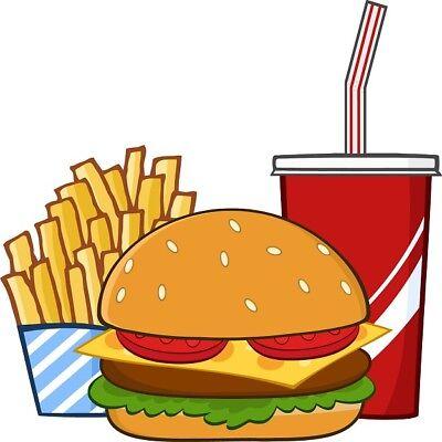 30 Custom Fast Food Dinner Personalized Address Labels