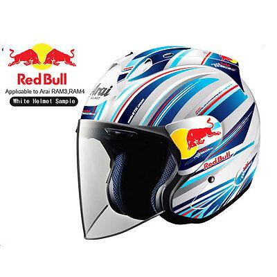 Motorcycle Helmet DECAL Set For Arai RAM RAM RED BULL YAMAHA - Motorcycle helmet decal