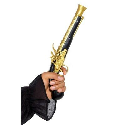Men's Realistic Pirate Blunderbuss Pistol Fancy Dress Accessory Gun Stag Fun Do - Realistic Pirate Costumes