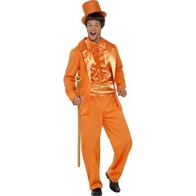 Mens Dumb Dumber Stupid Fancy Dress Lloyd Tuxedo Costume TV Film Orange Fun 90's - Lloyd Christmas Tuxedo
