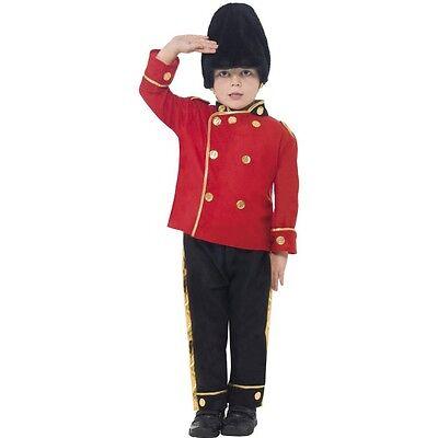 Boy's Busby Guard Fancy Dress Costume Queen's Guard - Queen's Guards Kostüm