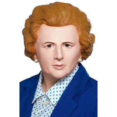 Iron Damen Maske Maragret Thatcher Politik Premierminister Erwachsene Kostüm