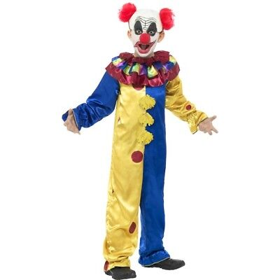Scary Clown Kostüm Goosebumps Kostüm mit Overall Kinder - Scary Clown Overall