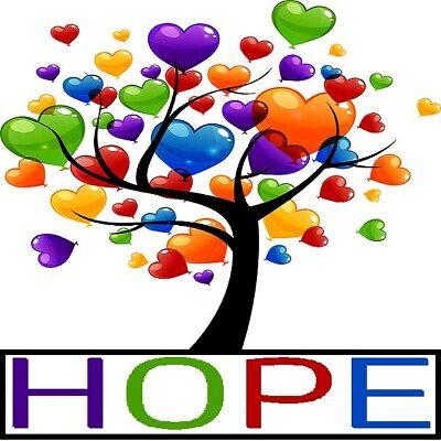 30 Custom Hope Heart Tree Personalized Address Labels