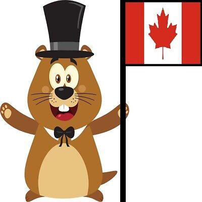 30 Custom Canadian Groundhog Personalized Address Labels
