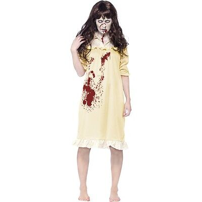 Women's Zombie Exorcist Fancy Dress Costume Demon Halloween Hen Theme Party Fun  (Exorcist Halloween Costumes)