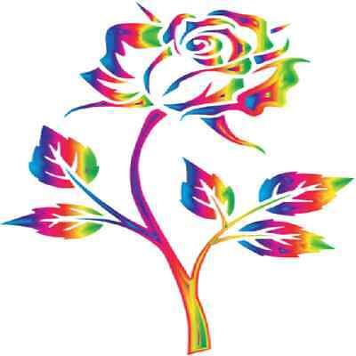 30 Custom Rainbow Rose Personalized Address Labels