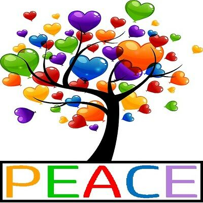 30 Custom Peace Heart Tree Personalized Address Labels