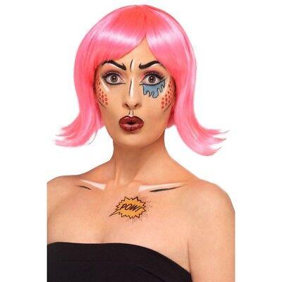 Comic Make-Up Set Damen Kinder Pop Art Kostüm Kosmetikum Satz