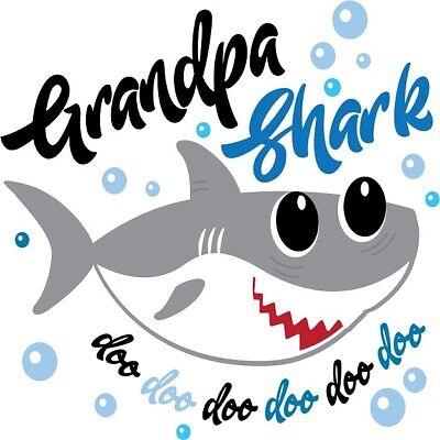 30 Custom Grandpa Shark Art Personalized Address Labels