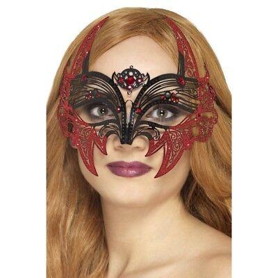 Women's Fancy Dress Metal Filigree Devil Eye Mask Ball Masquerade Hen Do Theme (Kostüm Ball Themen)