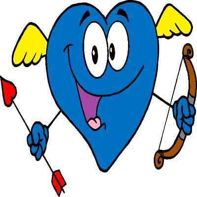 30 Custom Blue Cupid Heart Personalized Address Labels