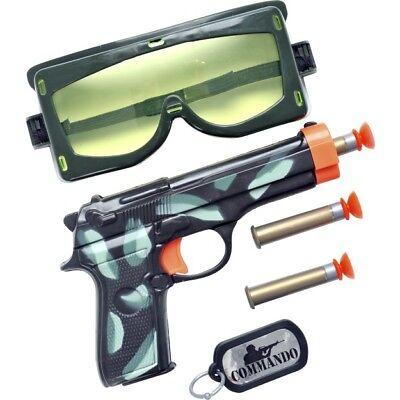 Militär Armee Satz Plastik Pistole Kugeln Brille Hundemarken Kostüm - Militär Hunde Kostüm