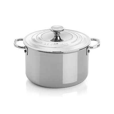 NEW Le Creuset Signature 4 qt. Stainless Steel Casserole with Lid, SSP3100-20
