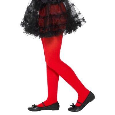 Ragazze Rosso Calze Demonio Vestito per Halloween Accessorio Età 6-12 Anni