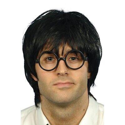 Mens Schoolboy Set Wig & Glasses Harry Potter Fancy Dress Costume Wizard Scruffy