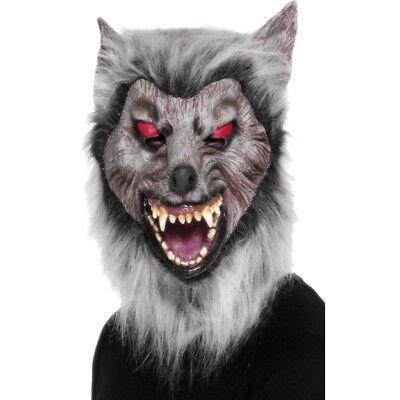 Halloween Wolf Kostüm Gesichtsmaske Grau (Grauer Wolf Maske)