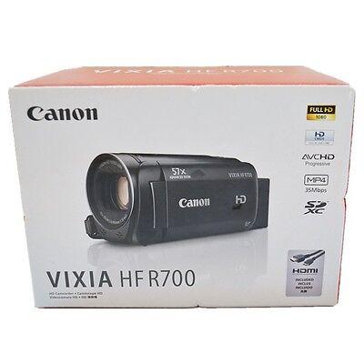 New Canon VIXIA HF R700 Full HD 57x Advanced Zoom Video Camera Camcorder - Black