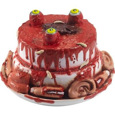 Latex Gory Gourmet Zombie Cake Prop Halloween Fancy Dress Party Decoration - Halloween Gory Cakes