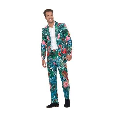 Men's Crazy Fancy Dress Stand Out Suit Hawaiian Tropical Flamingo Stag Comedy ](Hawaiian Suit)