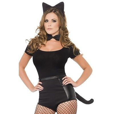 Women's Instant Cat Kit Naughty Fancy Dress Costume Kitty Hen Theme Halloween