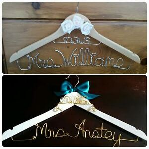 personalized wire wedding name hanger- Bride hanger London Ontario image 5