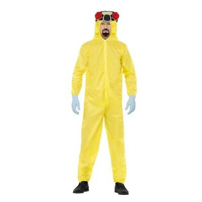 Men's Yellow Breaking Bad TV Heisenberg Fancy Dress Costume Halloween Stag Fun