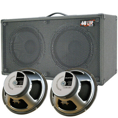 2x12 Guitar Speaker Cabinet Charcoal black Tolex W/Celestion G12K100 Speakers for sale  Shipping to India