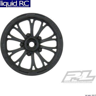 Pro-Line 2775-03 PRO2775-03 Pomona Drag Spec 2.2 Black Slash Front Wheels