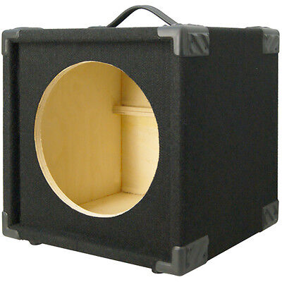 1X12 Bass Guitar compact Empty Speaker Cabinet black carpet finish (Compact Bass Speaker Cabinet)