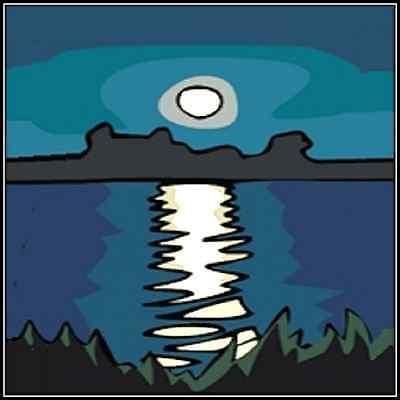 30 Custom Moonlit Lake Art Personalized Address Labels