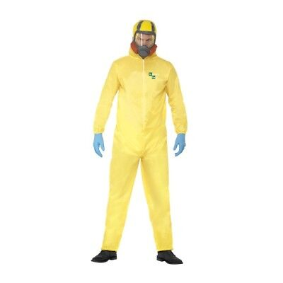 Men's Breaking Bad Hazmat Fancy Dress Costume TV Heisenberg Halloween Stag Fun  - Heisenberg Costume