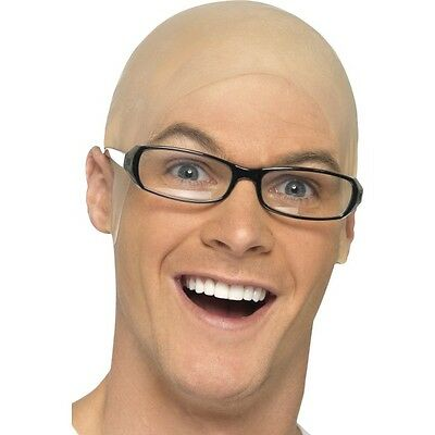Men's Lady Bald Cap Comedy Skinhead Dr Evil Harry Hill Fancy Dress Fun Accessory ()