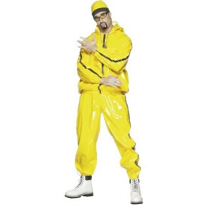 Men's Yellow Rapper Suit Ali G In Da House Fancy Dress Costume Party Stag Film