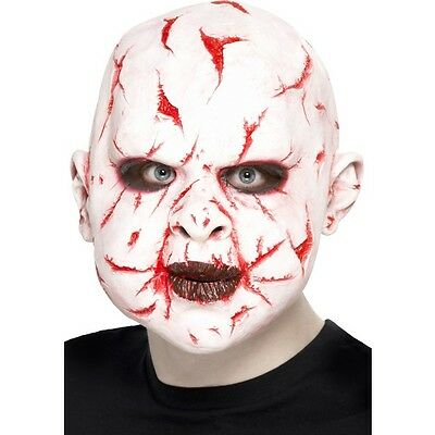 Unisex Men's Women's Latex Scar Face Fancy Dress Over Head Mask Halloween Horror (Scarface Fancy Dress Kostüm)