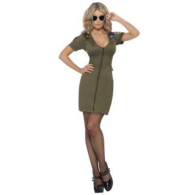 ie Sexy Aviator Top Gun Fancy Dress Costume Hen Night Fun Do (Top Gun Charlie Kostüm)