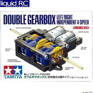 Tamiya USA TAM70168 Double Gearbox L/R Independ 4-speed