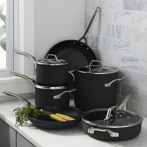 Calphalon Signature Hard Anodized Nonstick Cookware Set, 10-