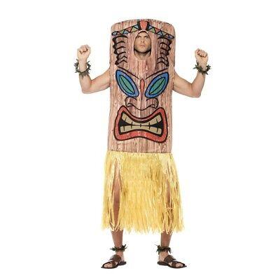 Men's Hawaiian Tiki Totem Fancy Dress Costume BQQ Stag Night Crash Bandicoot   - Tiki Costume