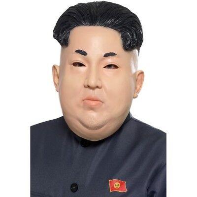 Kim Jong Un Diktator mit Kapuze Maske Koreanisch President Erwachsene - Un Kostüm Koreanisch