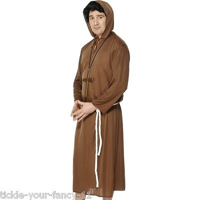 Men's Monk Fancy Dress Costume & Cross Religious Da Vinci Code Stag Theme Fun Do ()