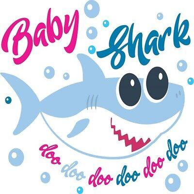 Baby Girl Return Address Labels - 30 Custom Baby Girl Shark Art Personalized Address Labels