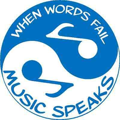 30 Custom Blue Music Speaks Yin Yang Personalized Address Labels