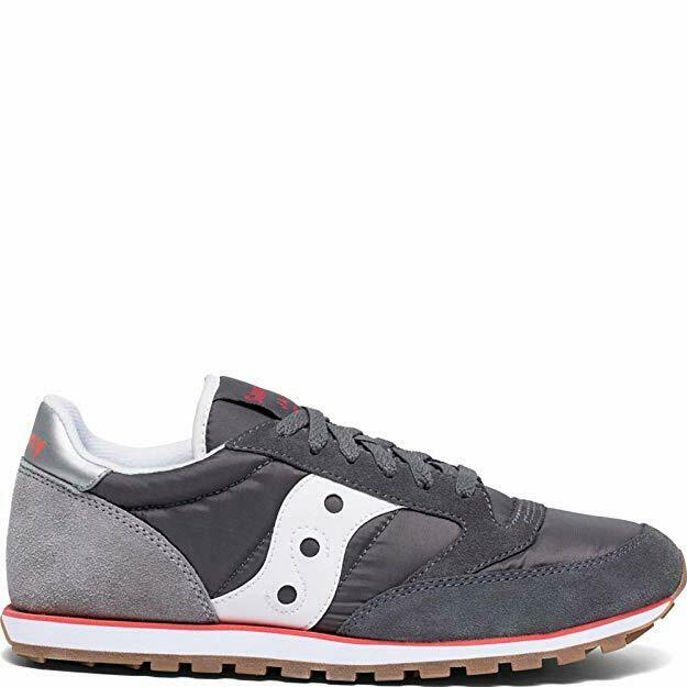 Saucony Originals Men's Jazz Low Pro Sneaker Castlerock/Light Grey/Red Size 10