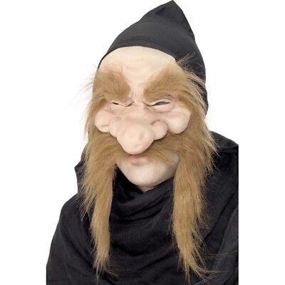 Smi - Fantasy Kostüm Zubehör Maske Goldgräber Zwerg Halloween Karneval (Gold Kostüm Maske)