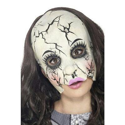 Smiffy's Damaged Broken Doll Adult Chinless Costume - Broken Doll Mask
