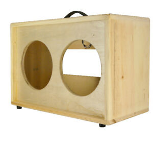 2x10 solid Pine, Raw wood Extension Guitar speaker Empty cabinet G2X10ST RW