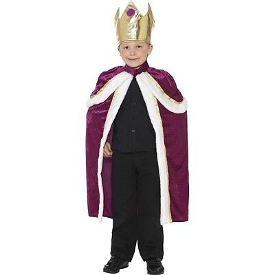 Boy's Kids Henry The 8th Kiddy King Fancy Dress Costume World Book History Fun  (Henry The 8th Costume)