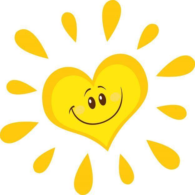 является сердце на солнце картинки детям куриных