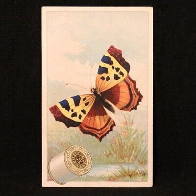J & P Coats Trade Card  - Butterfly - Butterfly Trade